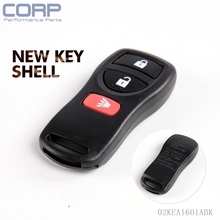 Case Only Replacement Entry Remote Key Fob For Nissan Frontier Titan Xterra
