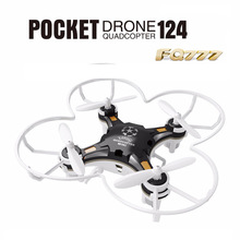 FQ777-124 RC Drone Dron Micro Pocket Drone 4CH 6Axis Gyro Switchable Controller Quadcopter RTF Flying Helicopter Kids Toys Gifts(China)