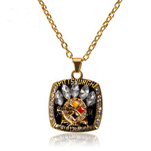 Hot Selling 2005 Super Bowl Pittsburgh Steelers Championship Pendants Necklace For Men and Women Necklaces Jewelry(China)
