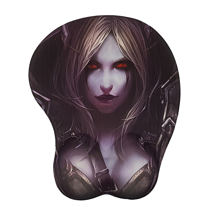 Computer Mouse Pad Soft 3D Mouse Pad Wrist Rest  free shipping