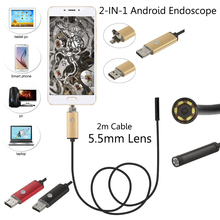 USB Car Endoscope 1m/2m/5m/10m PC Android Endoscope 5.5mm Lens USB Endoscope Camera Waterproof Inspection Borescope Micro OTG