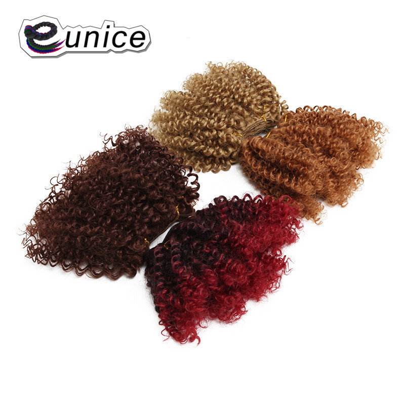 synthetic weaving 8INCH Jerry curly Braid ombre braiding hair weft extentions  (33)