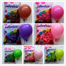 100pcsThickened standard colors round Latex balloon Birthday wedding decoration heart balloon gridding use 5 inch circle balloon(China)