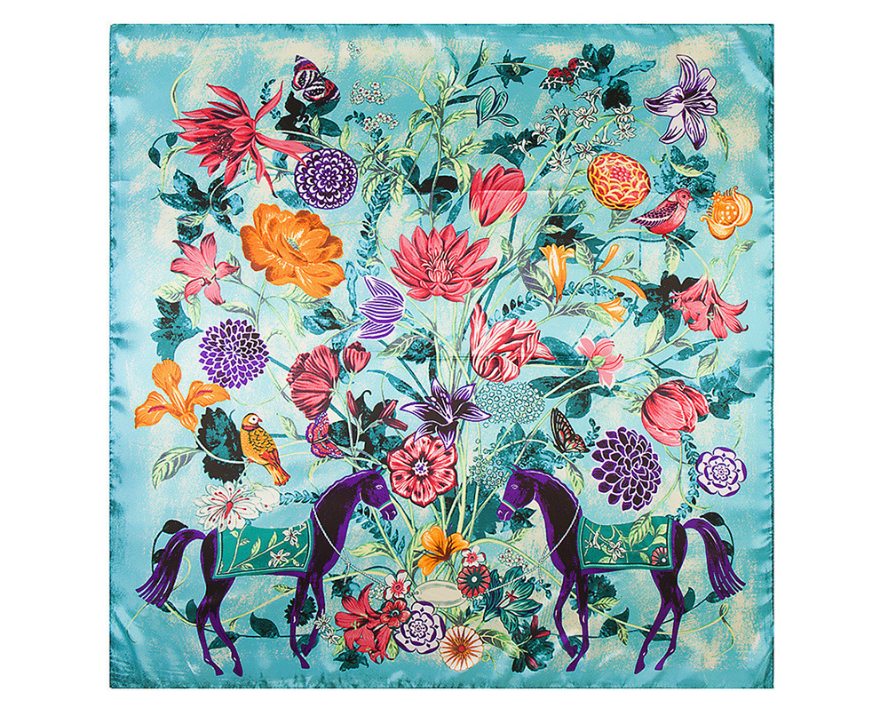 Floral Print Scarf (13)