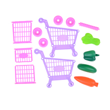 ini Shopping Cart Safe Trolley Toy Classic Children Puzzle Supermarket Car Pretend Play Furniture Toys Children Play House Toys(China)