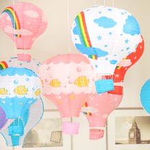 hot air balloon lanterns marriage wedding birthday party decoration bar stage mall nursery corridor lantern charm(China)