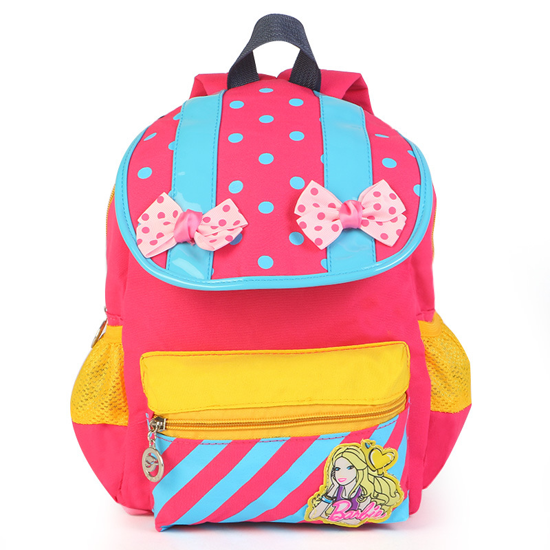 cute little girl pink shoulders bag angel love children rucksack 7-colors bow princess girl backpack<br><br>Aliexpress