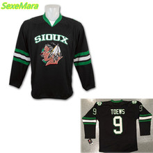 SexeMara Christmas Black Friday UND North Dakota Fighting Sioux #9 Jonathan Toews Black Alternate Jersey