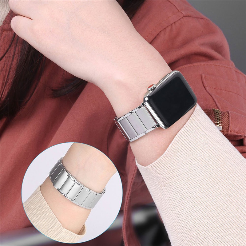 Luxury stainless steel watch band for apple series 1 2 3 watch strap 38-42 mm reloj hombre marca de lujo heren horlogewatcha bracelet (10)