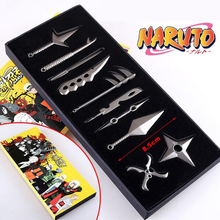 10 Pcs/Set Naruto Metal Toy Sword Kakashi Kunai Knife Throwing Set Mini Naruto Weapon Toys Ninja Knife Naruto Cosplay Weapons