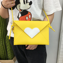 South Korea love Harajuku satchel Mini handbag envelope hand bag Japanese all-match bangalor cute soft sister bag(China)