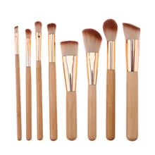 Buy Bamboo Professional 8 PCS Makeup Brushes Tools Set Foundation Powder Bulsh Eyeshadow Eyeliner Lip Make Brush Cosmetic Tools for $4.48 in AliExpress store