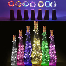 IP65 2m 20-LED Copper Wire String Light with Bottle Stopper for Glass Craft Bottle Fairy Valentines Wedding Decoration Lamp Part(China)