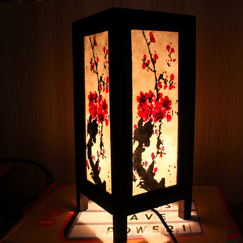 LED Indoor Night Light Chinese Traditional Table Lamp Warm White Atmosphere Lamp Mood Lighting<br><br>Aliexpress
