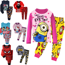 NEW 2017 boys nightwear girls family christmas pajamas cartoon kids pajama sets,children sleepwear toddler baby pyjamas 2t-7t(China)
