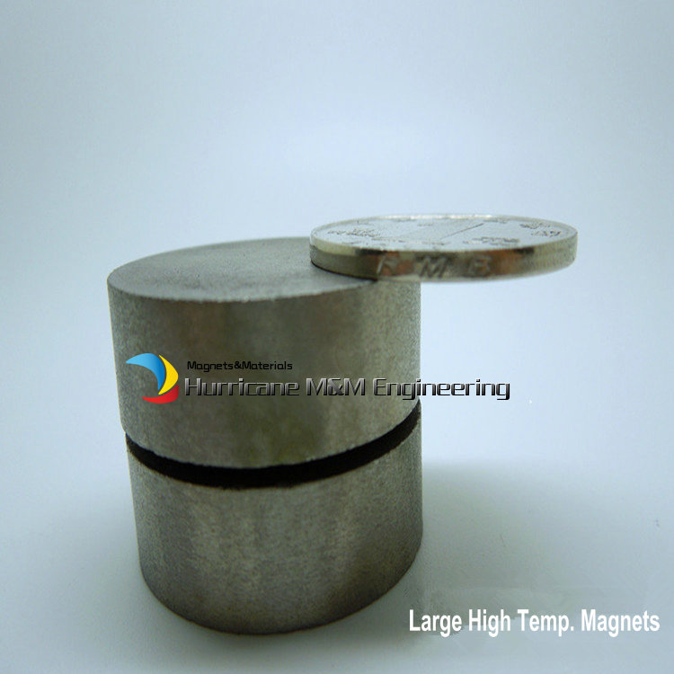 2 pcs SmCo Magnet Disc Dia 30x10 mm cylinder grade YXG24H, 350degree C High Temperature Permanent Rare Earth Magnets<br>