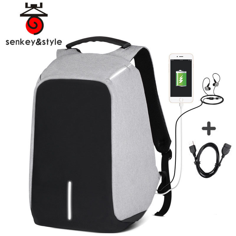 Anti Theft Travel Laptop Backpacks with USB Charging Port For College School Men Women Computer Bag Fits 15 15.6 inch Notebook<br>