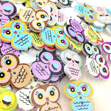 20pcs Owl Wood Round Buttons 19*21mm Sewing Craft WB253