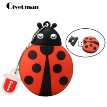 Civetman USB Flash Drive 8G Cute ladybug USB Pen Drive 32G Pendrive 16GB USB Memoria stick Beetles Flash Memory Stick Drive(China)