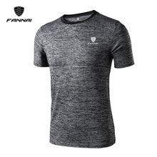 FANNAI Brand Men's t-shirt Quick Dry Breathable Fitness Tees bodybuilding Night light logo Shirt Tshirt men Jerseys wholesale(China)