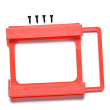 2.5 TO 3.5 SSD HDD Notebook Hard Disk Mounting Adapter Bracket Dock Holder for standard 3.5'' desktop dock bays red with Screws