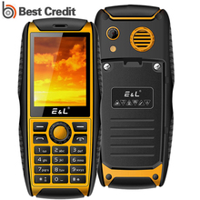 E&L S200 IP68 Waterproof Mobile Phone 2.4 Inch Dust/Shockproof FM Radio Dual Sim 2000mAh Bluetooth MP4 player feature phone(China)