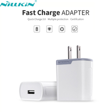Original NILLKIN 6.5V 3A Quick Charge 3.0 Mobile Phone Fast Charger Power Adapter US Standard Travel Plug Wall USB Charging