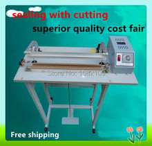 Free shipping Pedal sealing machine for plastic bag with the cutting function SF-600, Pedal Impulse Plastic bage Sealer