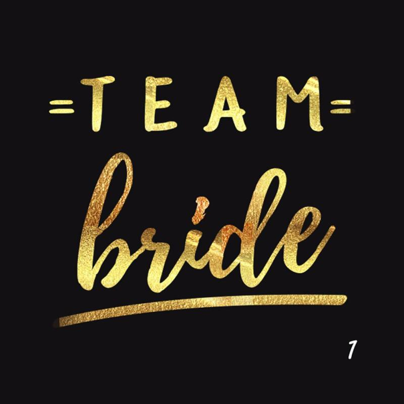5Pcs/lot Bride Team Tribe Wedding Temporary Tattoo Sticker Bridesmaid Night Party tattoo Bridal Flash sticker tattoo decals RP2 17