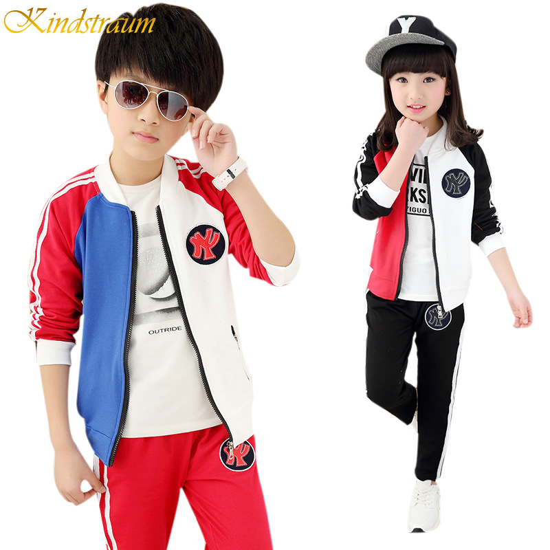 Kindstraum 2017 New Kids Fashion Clothing Sets Boys &amp; Girls Autumn Casual School Style Coat + Pants Children Sport Suits, MC198<br><br>Aliexpress
