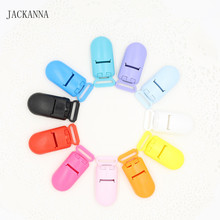 20Pcs 15MM KAM Brand Plastic Clips Transparent Pacifier Clips Soother Holder for Baby Pacifier 11 Colors to Choose(China)