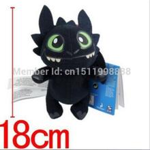 Black DragonWholesale Stuffed Toy&Super Toy & TOY How To Train Your Dragon Toothless Plush toy doll Figure Great for gift(China)