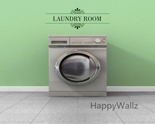 Laundry Room Quote Wall Sticker DIY Family Home Wall Quotes Vinyl Wall Art Decals Laundry Room Letterings Custom Colors Q57(China)