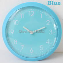Wholesales Free Shipping Kitchen Magnet Wall Clocks Simple Fridge Wall Clocks Blue Color Thin Round Clocks Back Fridge Stickers(China)