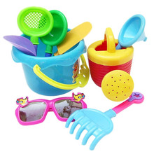 9Pcs Sand Sandbeach Kids Beach Toys Castle Bucket Spade Shovel Rake Water Gift Oct 26(China)