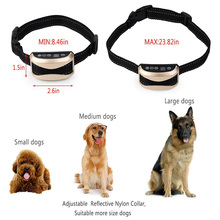 3 in 1 Electric Shock,Vibration and Sound Stimuli Anti Bark Collar for Small Medium Large Dogs Waterproog Dog Training Collar(China)