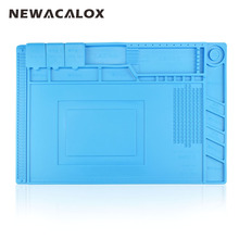 NEWACALOX 1pc 45x30cm Heat Insulation Silicone Pad Desk Magnetic Silica Soldering Station Maintenance Platform For BGA Repair(China)