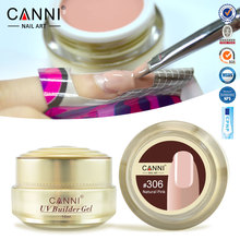 #50951 Free Shipping Thick Builder Gel Nails Pink CANNI 15ml Finger Nail Extension UV Gel Nail Cover Pink Camouflage UV Gel(China)