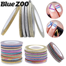 2017 Top Fashion New 1mm/2mm/3mm Nail Rolls Striping Tape Line Womandiy Art Tips Decoration Adhesive Sticker Nails Products(China)