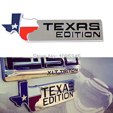 Car Styling Chrome Finish 3D Texas Edition Emblem Badges For Ford F-150 F-250 F-350 (Also Universal For Chevy GMC Dodge Trucks)