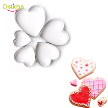 Delidge 5 pcs/set Cookie  Mold Set Star Flower Heart  Shape Cookie Mold Stainless Steel Cake Decoration Cookie Cutter Mold