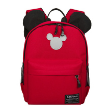 Hot sale new Girl student cute Mickey mouse backpack canvas kindergarten sack pack