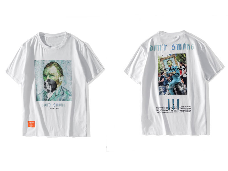 Funny Smoking Van Gogh Tshirts 3