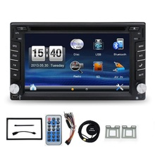 "GPS Navigation 2 Din Car DVD Player 6.2"" Car GPS iPod Radio DVD Player Double DIN Stereo Bluetooth iPod TV Digital Touch Screem"