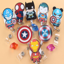 2016 Cute Cartoon characters Retractable Badge Reel Exihibiton ID Name Card Badge Holder Office Supplies(China)