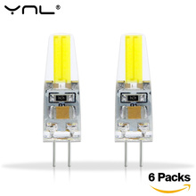 6PCS/lot G4 LED Lamp Bulb 220V 2W 1505 COB LED G4 Lights replace 30W Halogen Spotlight Chandelier Lighting