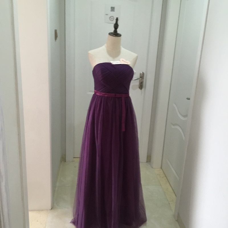 SOCCI Weekend Strapless Purple Long Evening Dress Charming Tulle Burgundy Evening Gown Formal Wedding Reception Vestido de Longo 16