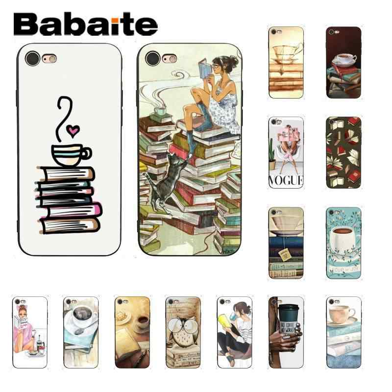 Babaite OK First coffee book цветной милый чехол для телефона iPhone 6S 6plus 7 7plus 8Plus X Xs MAX 5 5S XR 11 11pro 11promax
