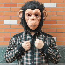 Halloween Mask Animal Mask Latex Gorilla Cosplay Gorilla Masquerade Mask Monkey King Costumes Caps Realistic FestivalParty Masks(China)