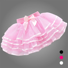 New Fashion Girls Tutu Skirts Baby Ballerina Skirt Childrens Chiffon Fluffy Pettiskirts Kids Casual Candy Color Skirt Fantasia